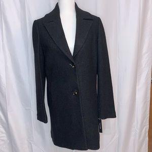 Tahari Notch Collar Wool Blend Coat NWT Sz S,M,L